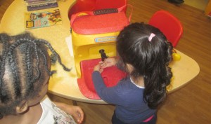 Children at the Old Fire Station Nursery try out their new KiddiWash portable sink