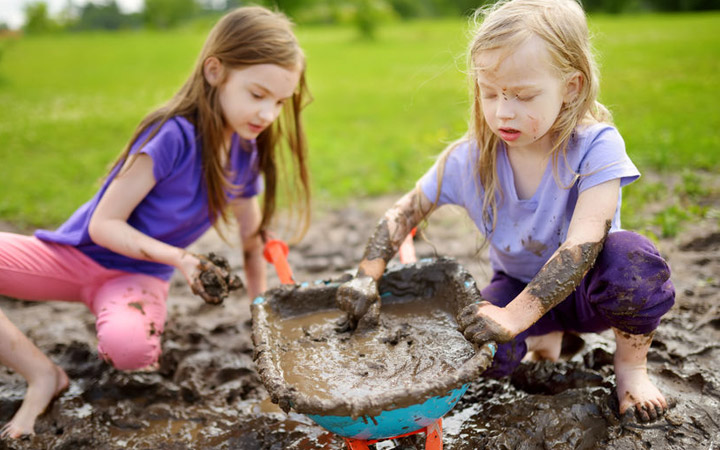 """""""Dirt is good for kids"""" as long as they can wash their hands properly…"""
