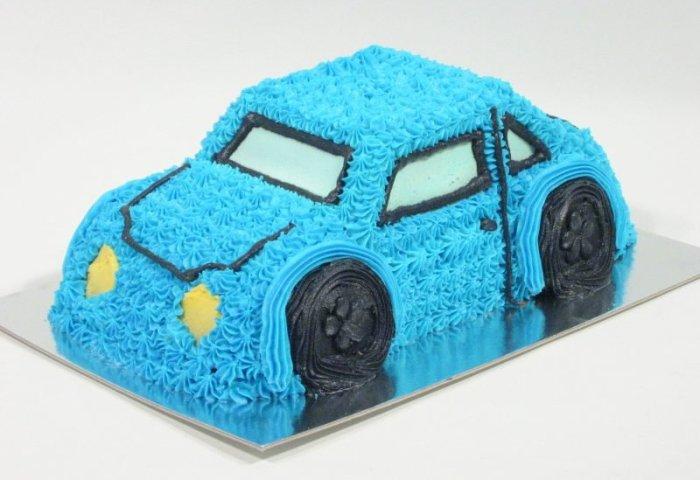 3d Car In Blue Birthday Cake Kidds Cakes Bakery