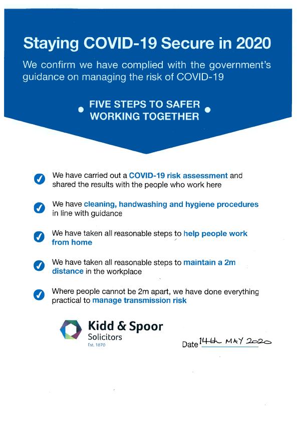 Kidd & Spoor - COVID-19