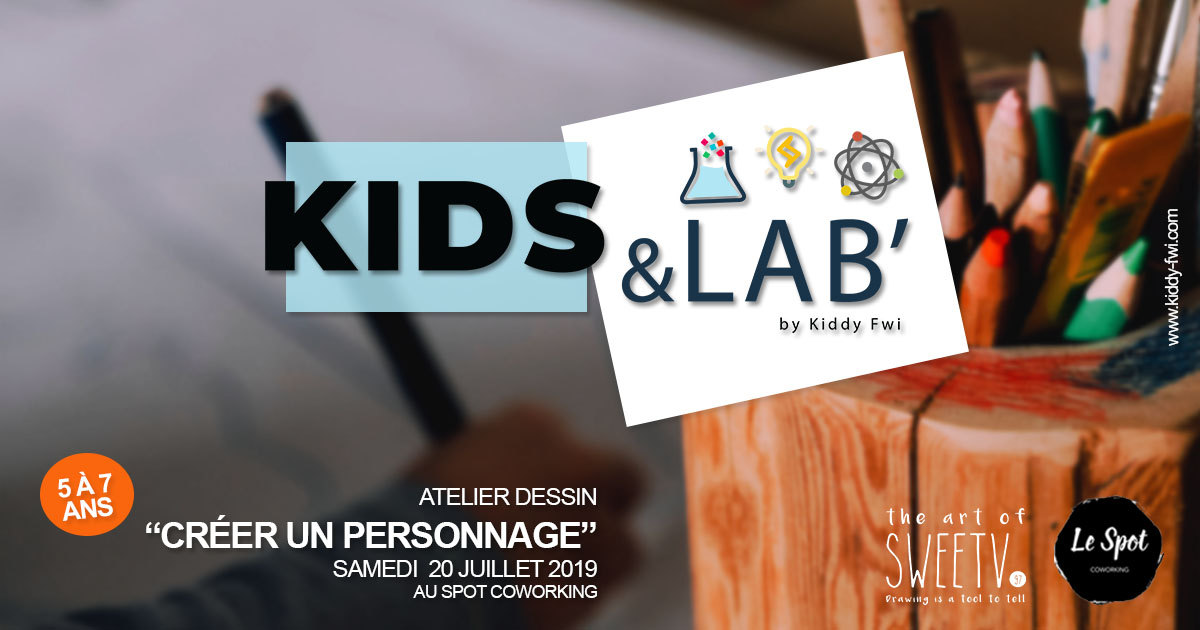 atelier dessin kids&lab enfants guadeloupe