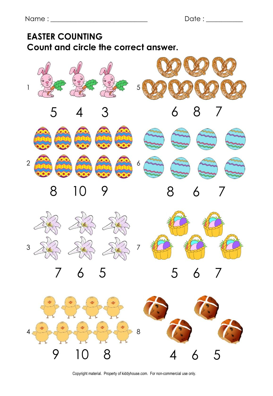 Free Easter Worksheets