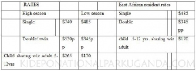 APOKA SAFARI LODGE PRICES