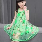 green girls dress