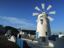新北市翡翠灣裡渡假飯店的希臘風藍白景觀~
