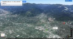這一次「走在鄉間的小路上」的位置,從「員山生態教育館」到「雷公埤」單程約 2 公里(翻攝自 Google map)