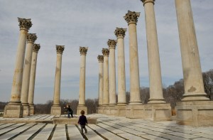 The old Capitol columns at the National Arboretum