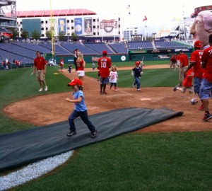 Heading for home plate