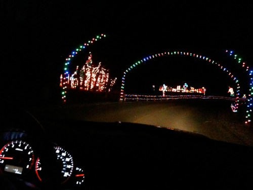 Take a drive through the Festival of Lights at Watkins Regional Park