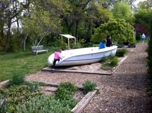 Row, row, row your garden boat...