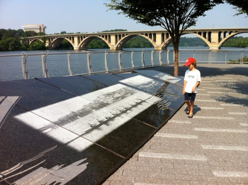 Images of Georgetown's past etched into granite