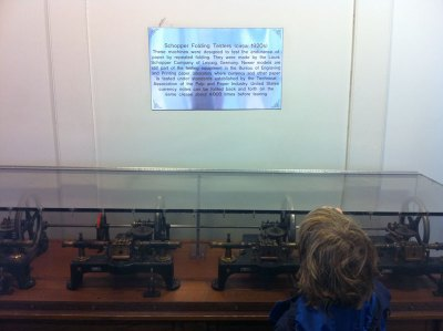Early money folding machines