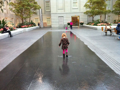 Splashing in the Kogod Courtyard