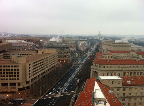 The view from the tower - beautiful, even on a dreary day.