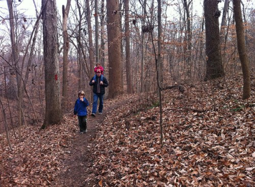 On the trail at Turkey Run Park