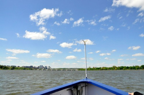 A lovely vista from the bow of the boat