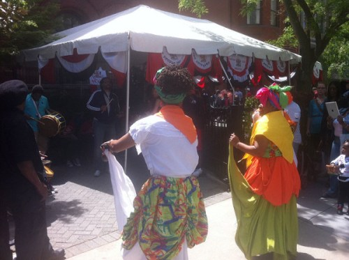 Steel drums and dancing at the Embassy of Trinidad and Tobago