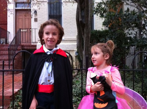Dracula and Fairy Butterfly Princess on Halloween 2012