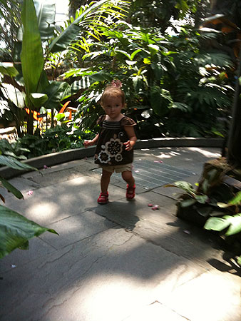 Sash taking some of her earliest steps around the USBG