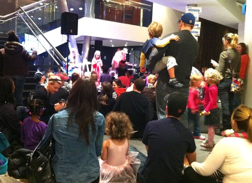 Family entertainment in the Atlas' Kogod Lobby at last year's INTERSECTIONS Festival
