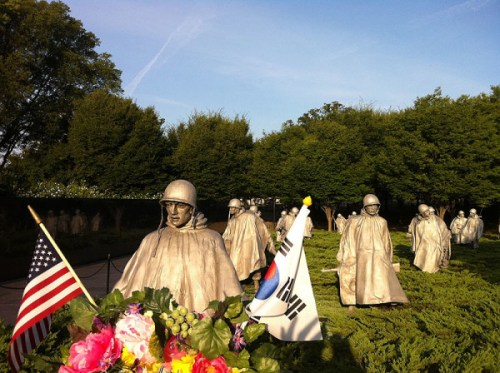 The Korean War Memorial on the National Mall