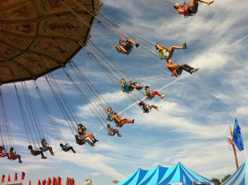 Flying high at last year's Montgomery County Fair