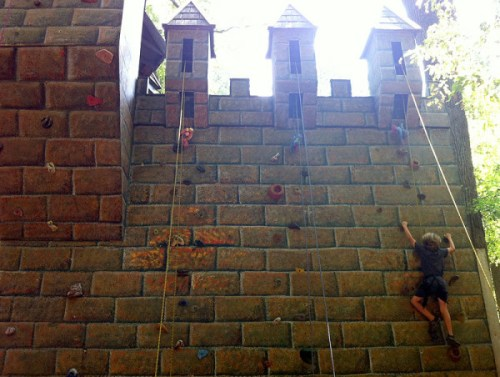 Scaling a castle wall is a possibility this weekend