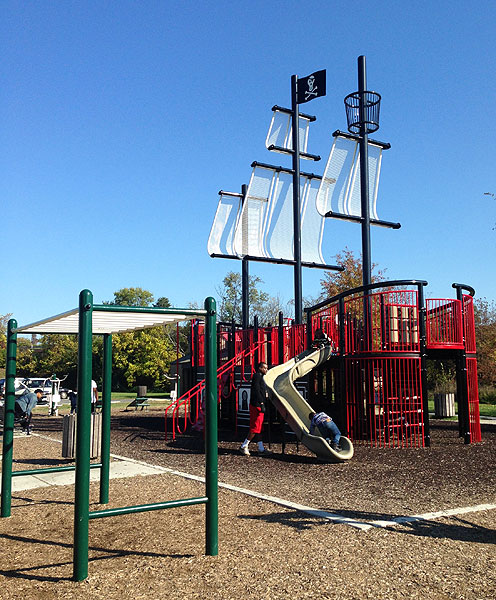 The pirate ship playground is easily a highlight for kids at Anacostia Park