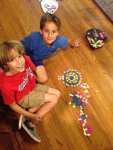 Owen and friend create a fireball breathing dragon