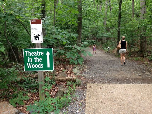 This way to children's theatre at Wolf Trap...