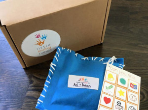 An activity bag ready to be delivered