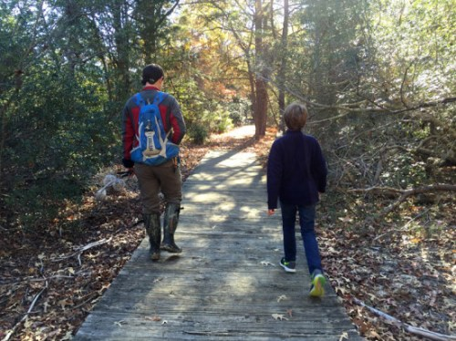 A half-mile hike precedes the fossil hunt