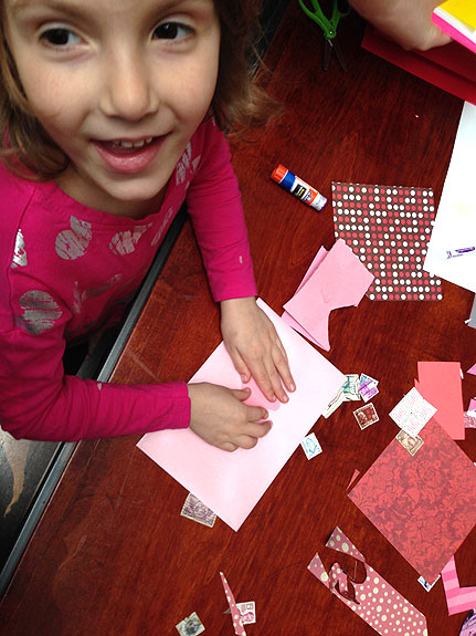 Making Valentines at the Postal Museum