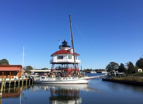 Tour the Drum Point Lighthouse on a visit to the Calvert Marine Museum
