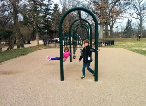 Swing by Montrose Park before a visit to Dumbarton Oaks