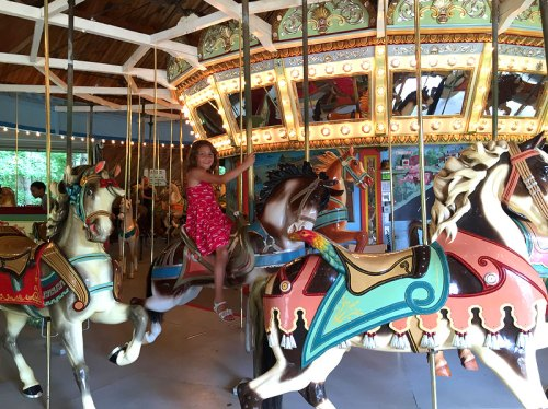 Go for a spin on the carousel at Watkins Regional Park