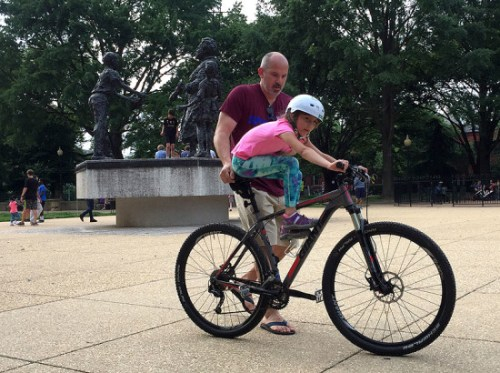 A daddy-daughter bike ride :)