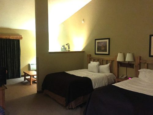 The Majestic Bear Suite also has kitchen area and separate bedroom