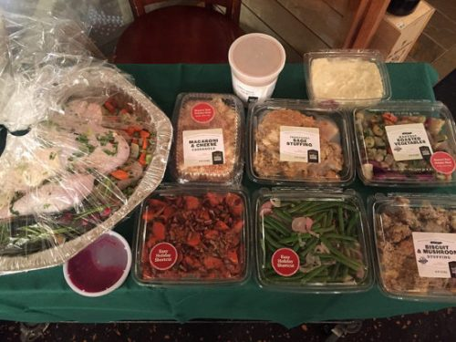 The Traditional Turkey Dinner, packed and ready for your oven