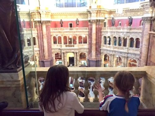 Taking in the view ofthe Main Reading Room