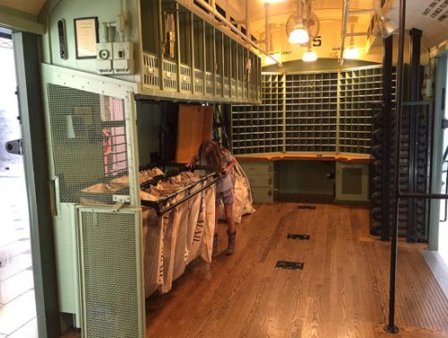 Go to Story Time, then sort mail in the Railway Mail Car at the Postal Museum