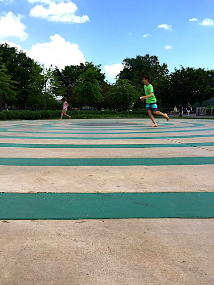 Running the labyrinth at Georgetown Waterfront Park