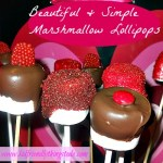 Beautiful and Simple Chocolate, and Candy Coated Marshmallow Lollipops