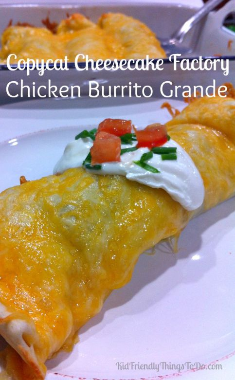 A homemade version of the Burrito Grande from The Cheesecake Factory. This copycat recipe comes really close, and is darn delicious! Perfect family dinner, or for feeding a big crowd!
