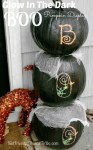Glow In The Dark Boo Pumpkin Halloween Display - KidFriendlyThingsToDo.com