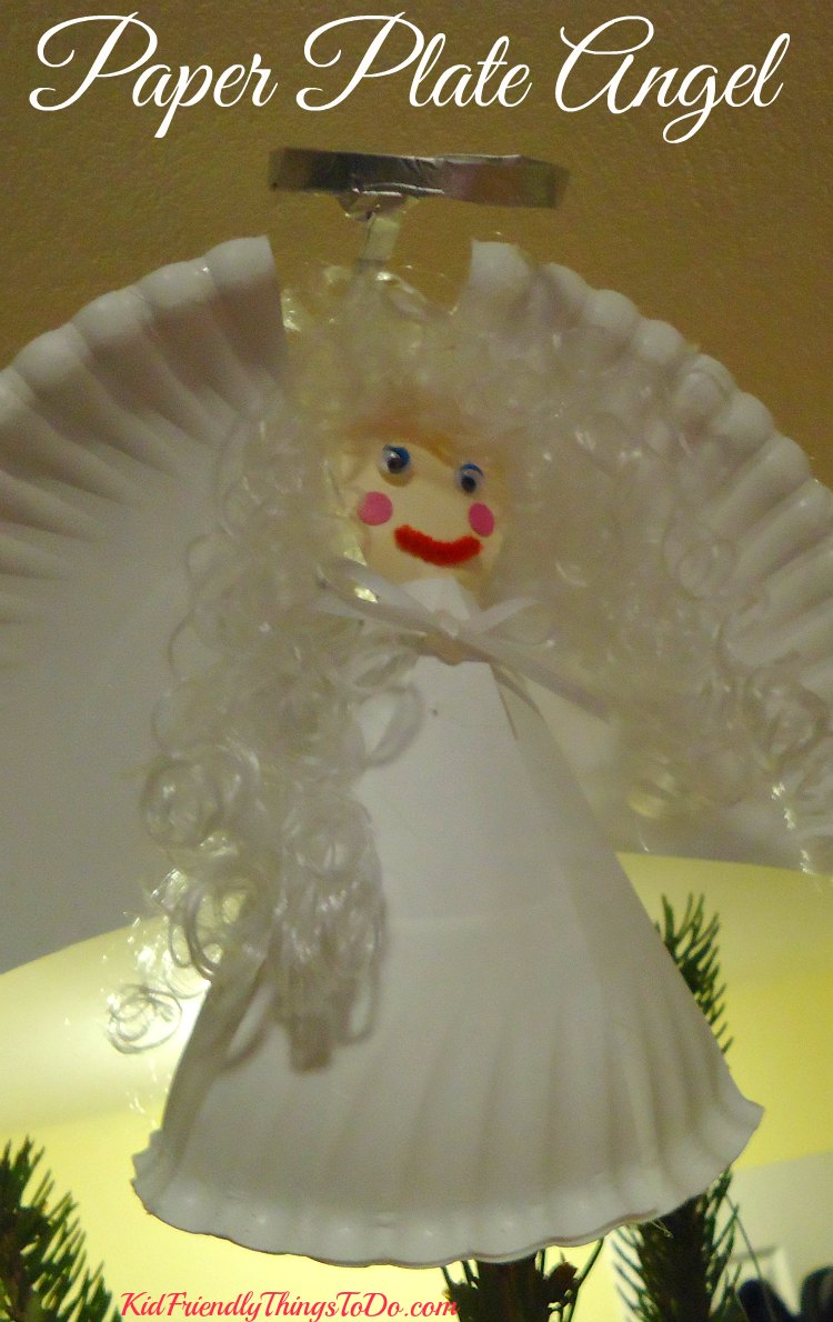 A beautiful angel craft for kids for Christmas crafts made out of paper plates