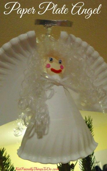 Paper Plate Angel topper for the Christmas tree craft - KidFriendlyThingsToDo.com