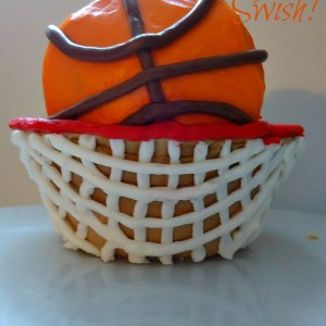 March Madness Basketball Cupcake!