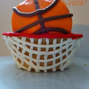 March Madness Basketball Cupcake!