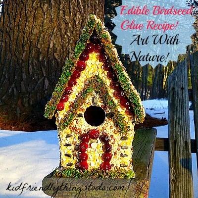 Edible Glue - An Easy Birdhouse Craft